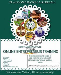 NYSC Entrepreneurship Training