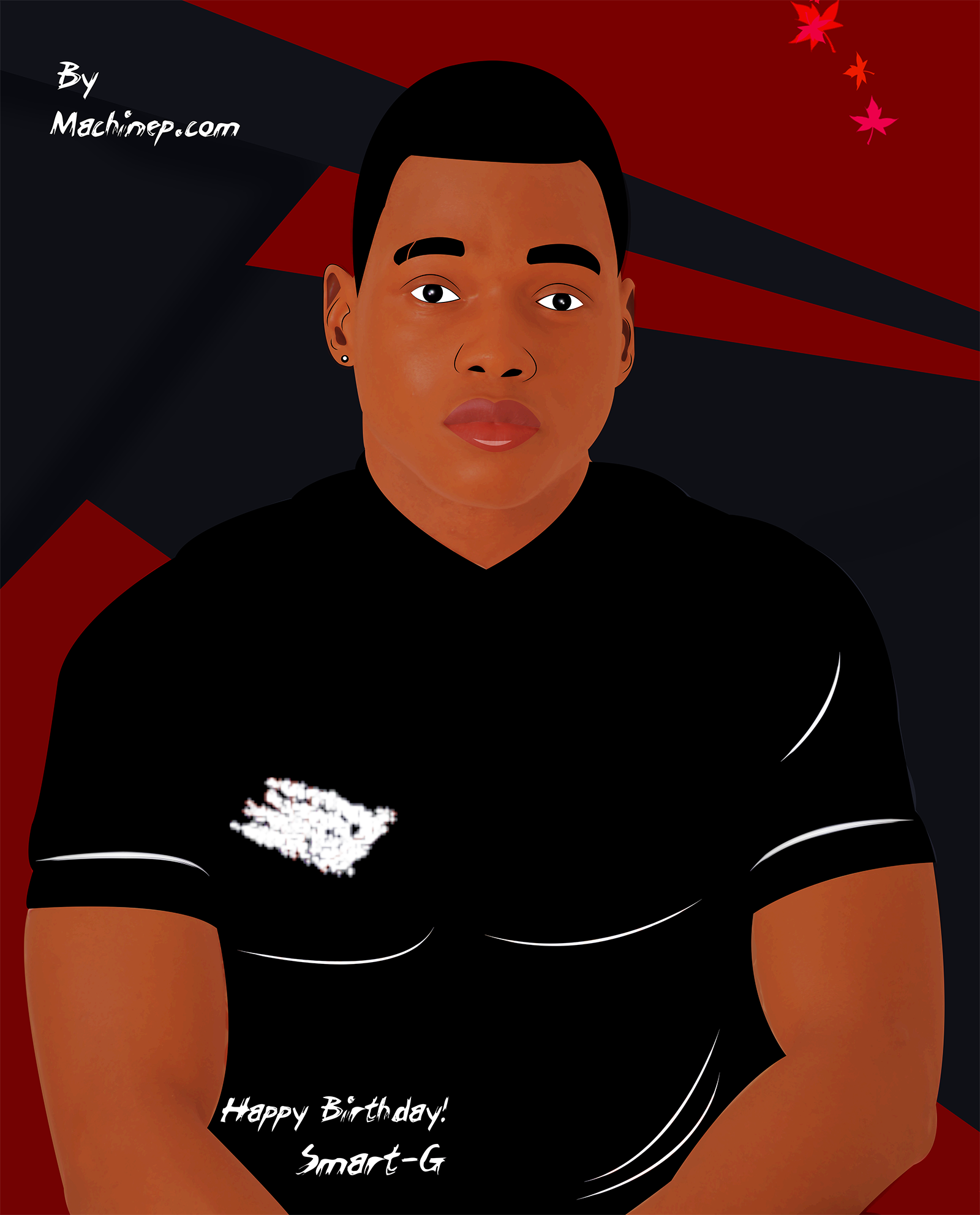 Smart G cartoon Designed by Machinep Graphics