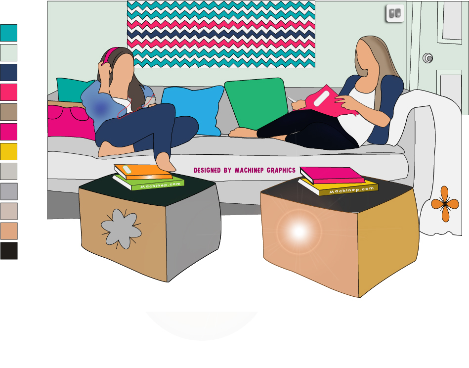 20 Types of Roommates you will see in the University designed by Machinep Graphics