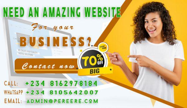 Create amazing website for you by pereere.com machinep.com