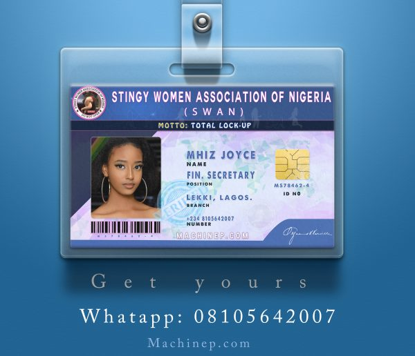 SWAN Official ID Card designed by machinep graphics at machinep.com Pereere Smart