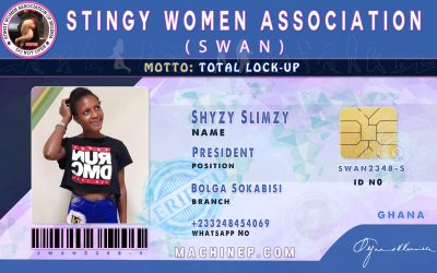 ID Card For Stingy Women Association (SWAN) for all Countries