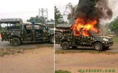 Breaking: Gunmen Attack, Kill Nigerian Soldiers & Burn Operational Vehicle in Akwa Ibom