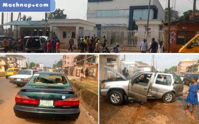 Gunmen Attack Bank, Destroy Vehicles & Properties, Raise Biafran Flag