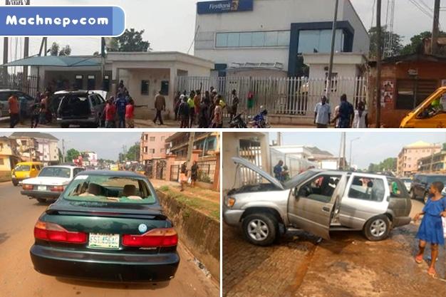 Gunmen Attack Bank, Destroy Vehicles & Properties, Raise Biafran Flag