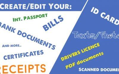 Change Name, ID No., Passport | Fake Passport, ID Cards, Bank Documents,..