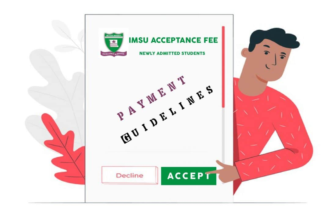 IMSU Acceptance Fee Payment for 2020/2021 Freshers | Guidelines